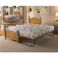 340 Airsprung Columbia 2ft 6 Single Wooden Guest Bed Frame Only