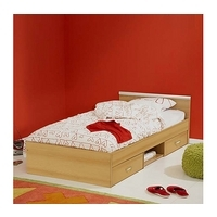 Clearance - Abe Teens Storage Single Bed Frame in Beech