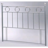Star Collection, London, 4FT Sml Double Metal Headboard