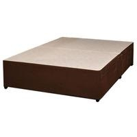 Sleeptime Beds, (BASE ONLY) Memory Suede, 4FT 6' Double Divan Base - Brown