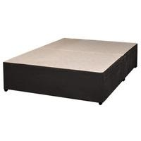 Sleeptime Beds, (BASE ONLY) Memory Suede, 4FT Sml Double Divan Base - Black